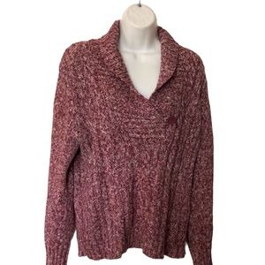 Sonoma Women's Pink Pullover Sweater Large